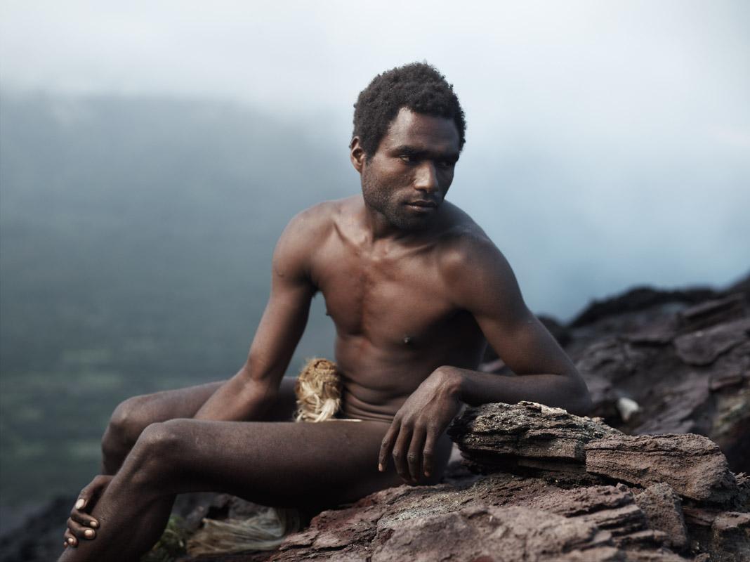 Sunik with Penis sheath, Mount Yasur, Tanna Island, Vanuatu