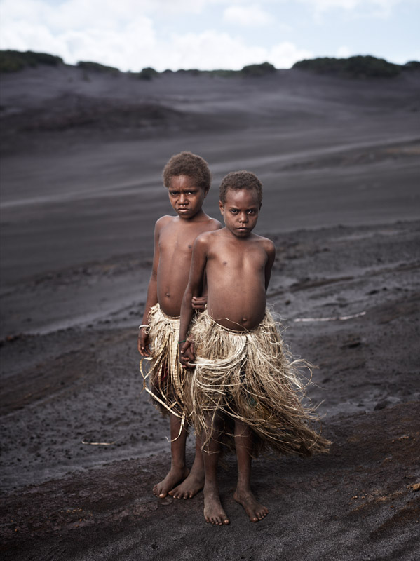 The Kastom Villagers of Tanna refuse any modern methods of living, and choose to raise their children in the traditional ways. Tanna Island, Vanuatu