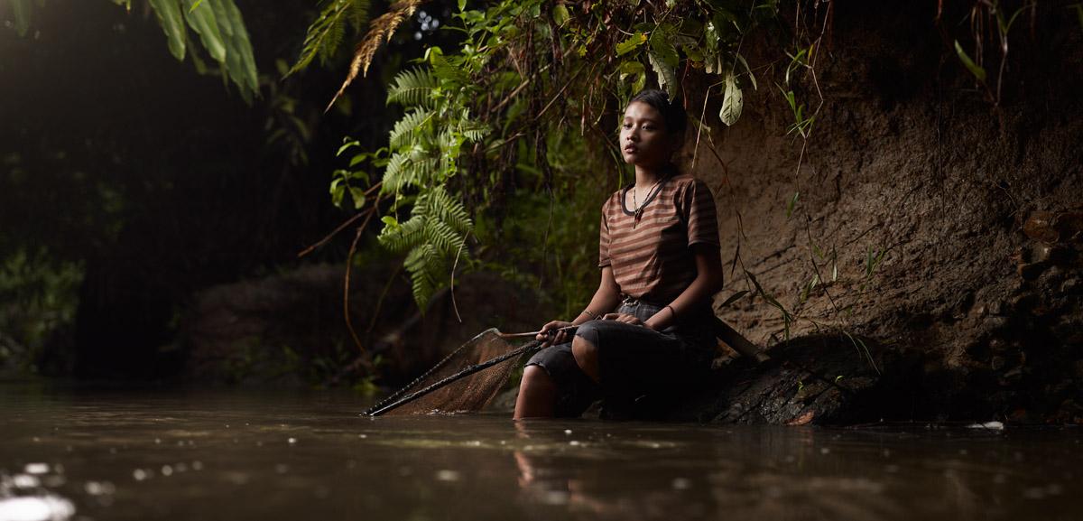 Portrait of Siobak Icit Fishing