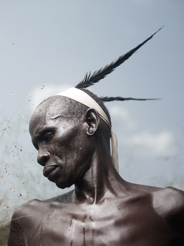 Feathers are only allowed to be worn on the head by respected elders or celebrated warriors.