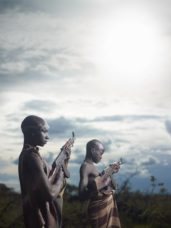 Automatic weapons have made their way into the South of Ethiopia through the recent conflict in Sudan. In the Omo Valley, the modern weapons are now an every day part of life and used in conflicts with neighboring tribes.