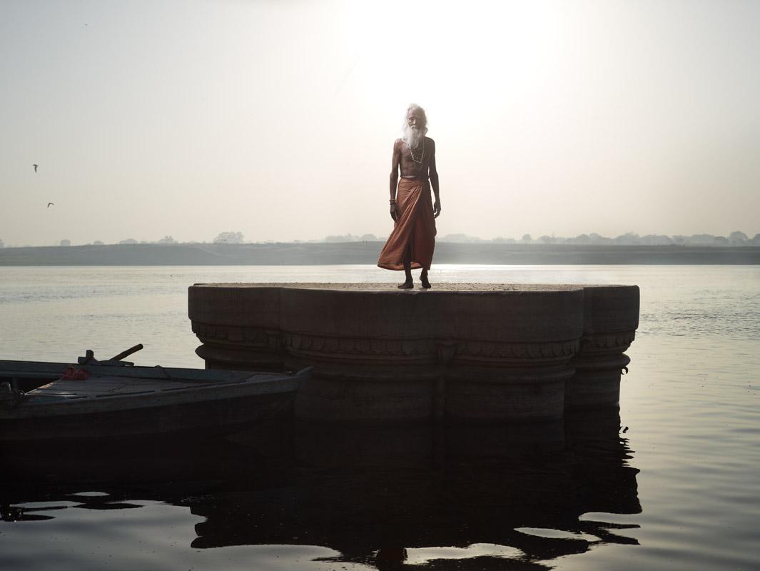 Sunken temple in Varanasi, India