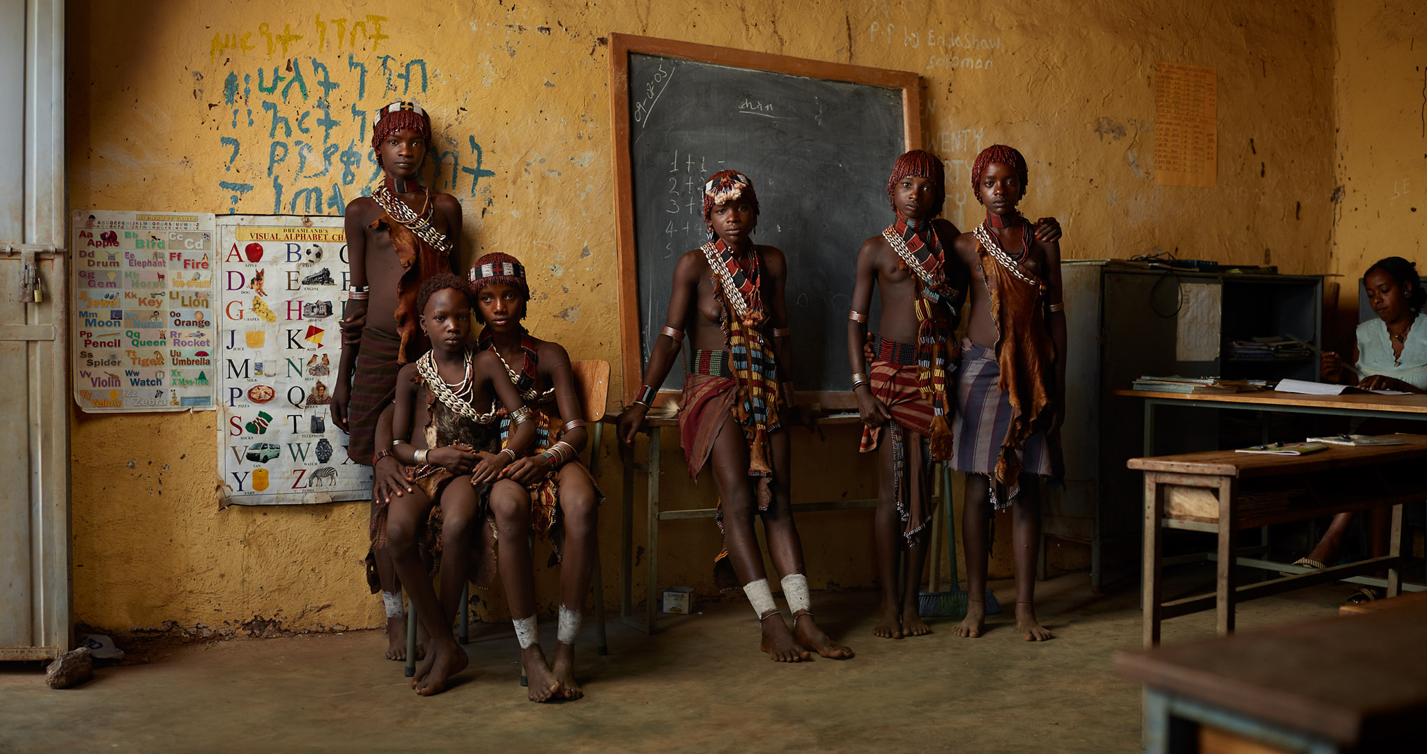 Present and future students: Guti Kuli, Asi Kala, Wollyso Muga, Keli Kyma, Ente Algo and Kunki Dula. Hamar Tribe.