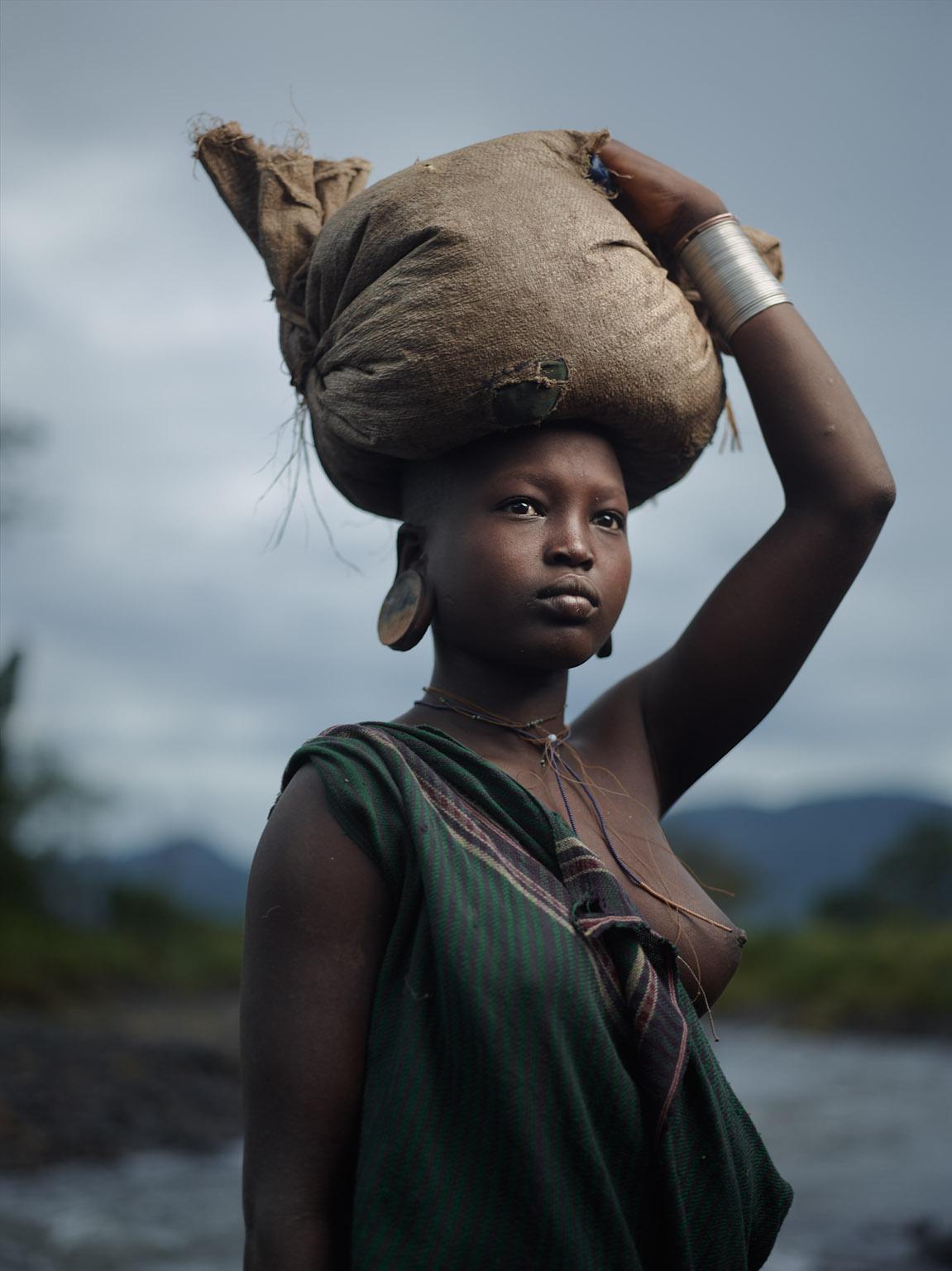 Kibbish River, Suri Tribe Territory, Lower Omo Valley, Ethiopia