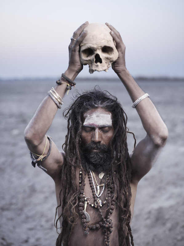 The Aghori have a profound connection with the dead.  Death is not a fearsome concept, but a passing from the world of illusion. Varanasi, India